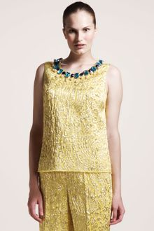 Dolce & Gabbana Sleeveless Brocade Top - Lyst
