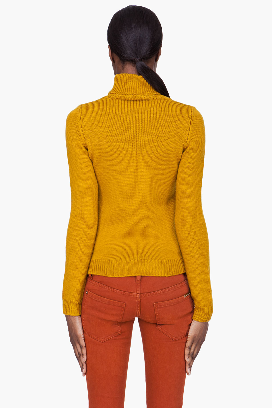 Dsquared 178 Mustard Wool Turtleneck In Yellow Lyst