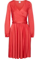 Halston Heritage Wrapeffect Jersey Dress - Lyst