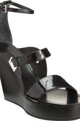 Jil Sander Open Toe Wedge Sandal - Lyst