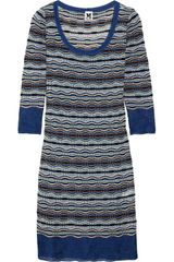 M Missoni Striped Crochet Knit Dress - Lyst