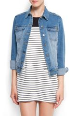Mango Light Washed Denim Jacket