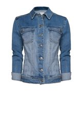 Mango Light Washed Denim Jacket in Blue (tm) - Lyst