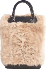 Marni Shearling Tall Crossbody Bag - Lyst