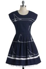 ModCloth Sailing School Soiree Dress - Lyst