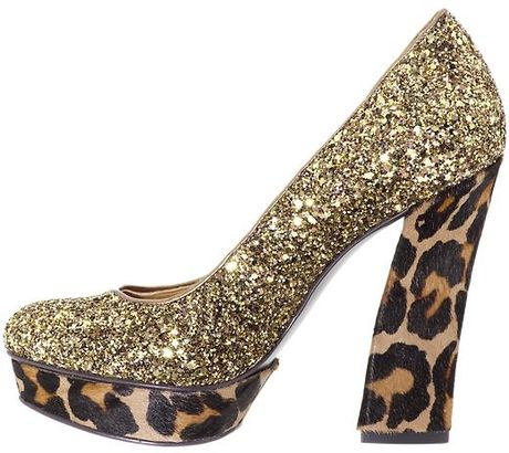 Nine West Vividly Pumps in Gold (gold bronze/glitter)