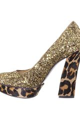 Nine West Vividly Pumps in Gold (gold bronze/glitter) - Lyst
