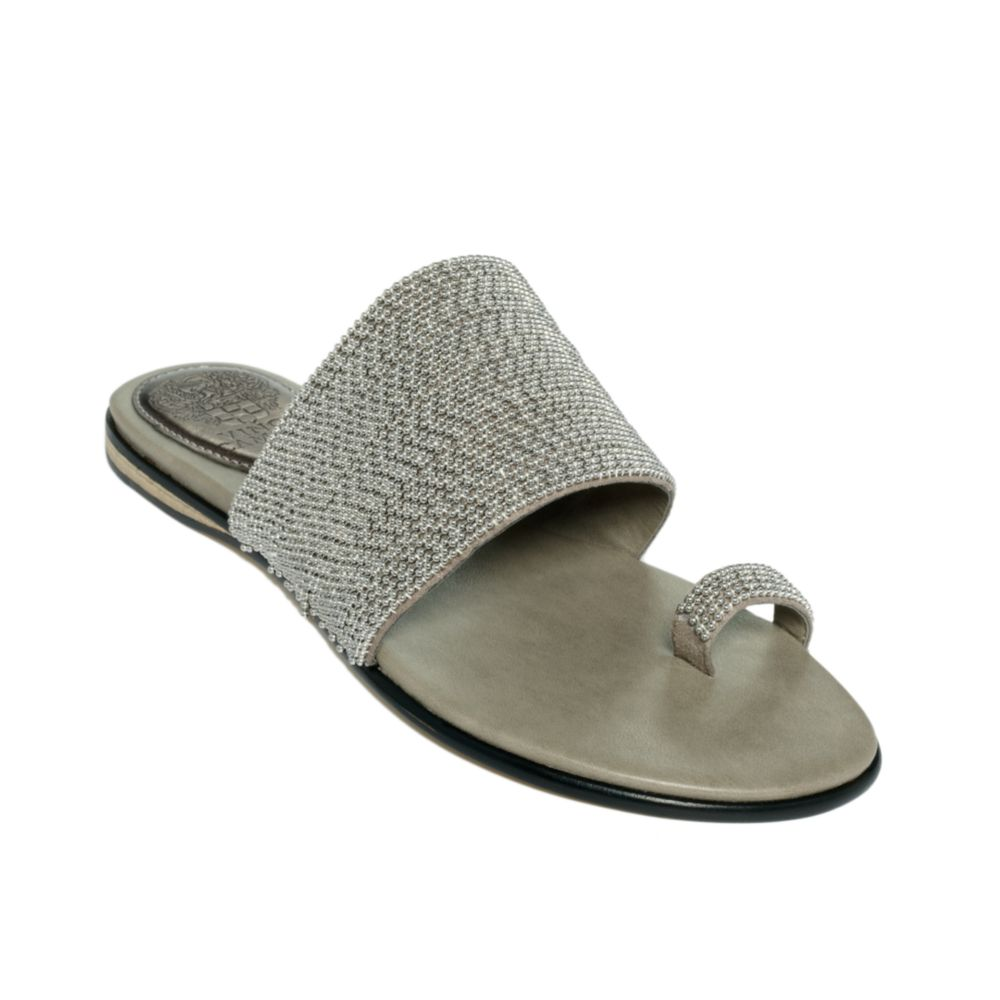 Vince Camuto Athens Sandals In Silver Pewter Lyst