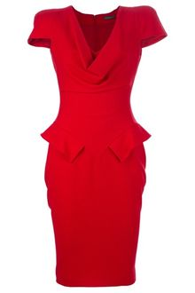 Alexander Mcqueen Archive Peplum Dress - Lyst