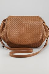 Bottega Veneta Woven Leather Messenger Bag - Lyst
