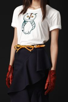 Burberry Prorsum Barn Owl Detail Cotton Tshirt - Lyst