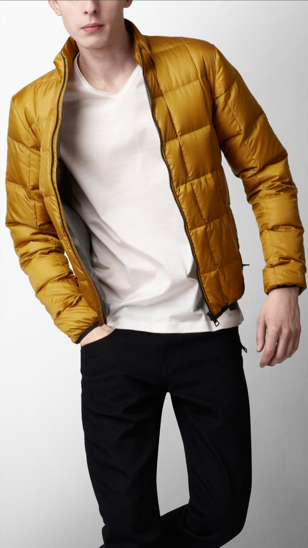 Burberry sport Packable Down Jacket in Yellow for Men | Lyst