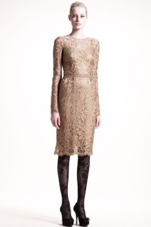 Dolce & Gabbana Longsleeve Lace Dress - Lyst