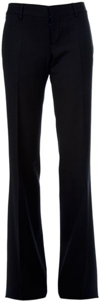 Dsquared2 Wide Leg Trouser in Black - Lyst