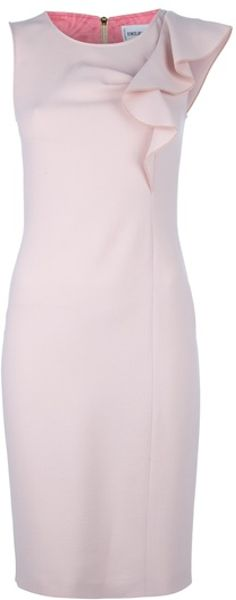 Emilio Pucci Ruffle Dress in Pink - Lyst