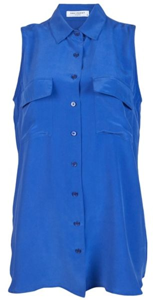 Equipment Signature Shirt in Blue - Lyst