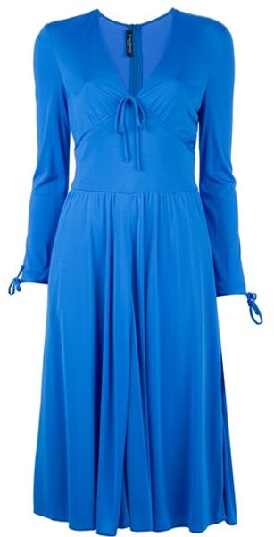 Louis Feraud Vintage Vneck Dress - Lyst