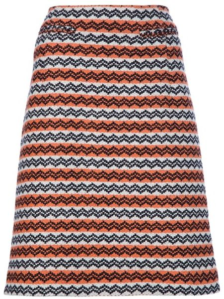 Marni Patterned Skirt in Orange - Lyst