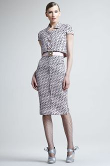 Oscar de la Renta Tweed Trompeloeil Dress - Lyst