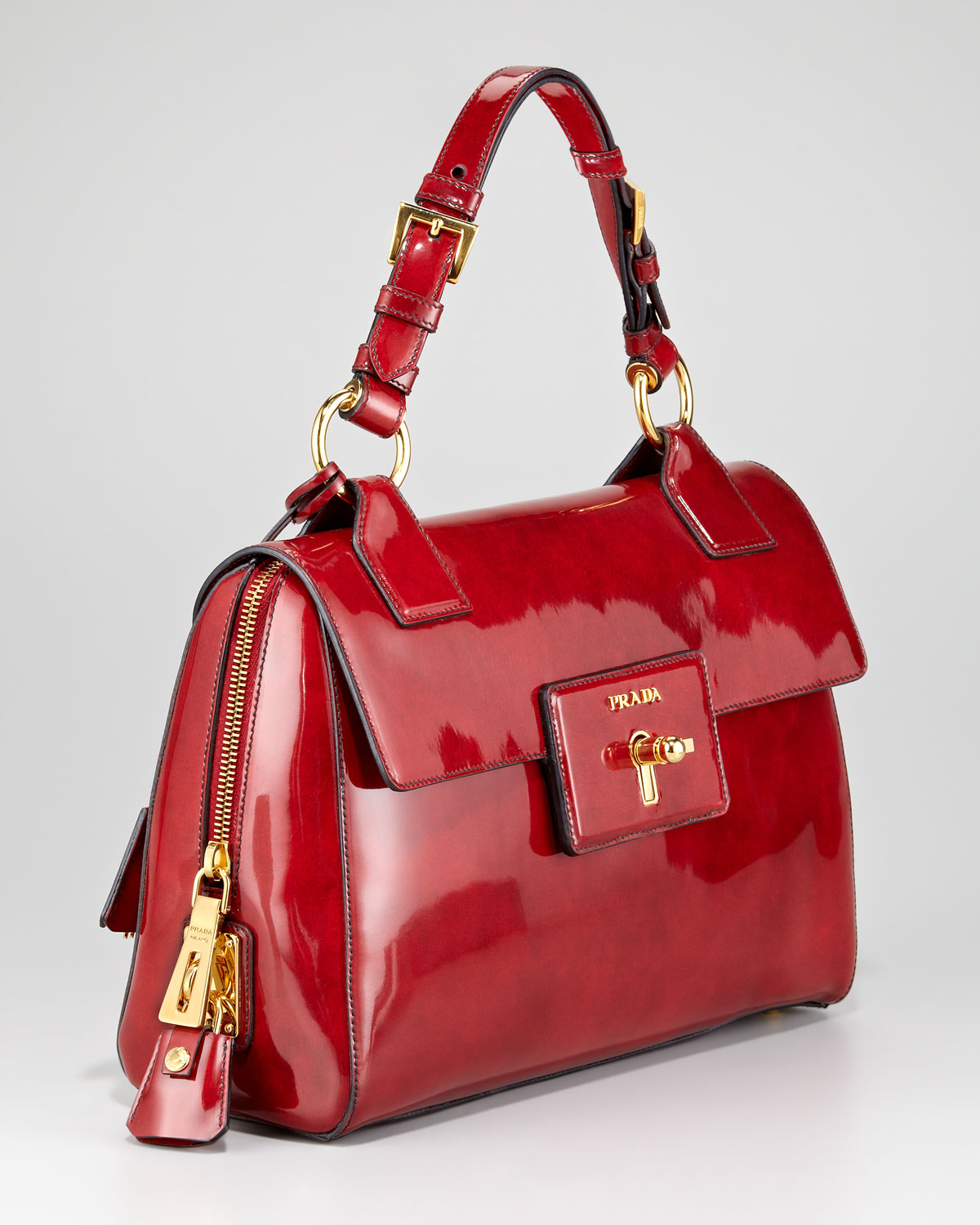 prada shoulder bag red