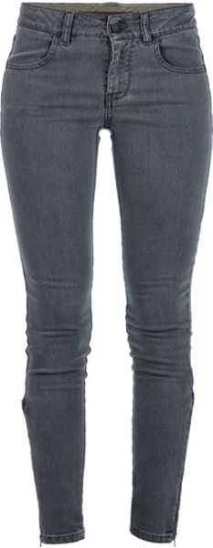 Stella Mccartney Skinny Jeans in Gray (grey) - Lyst