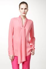Stella McCartney Tieneck Silk Blouse - Lyst