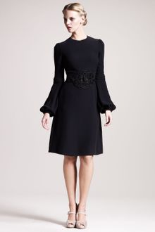 Valentino Embroidered Cady Dress - Lyst