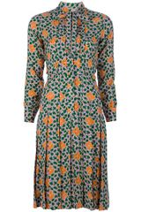 Yves Saint Laurent Vintage Flower Print Dress - Lyst