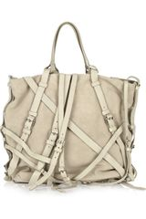 Alexander Wang Kirsten Multistrap Suede Bag in Green (khaki) - Lyst