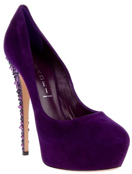 Casadei Gem Detail Pump in Purple - Lyst