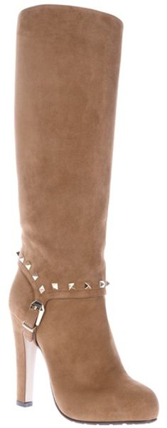 Valentino Buckle Detail Boot - Lyst