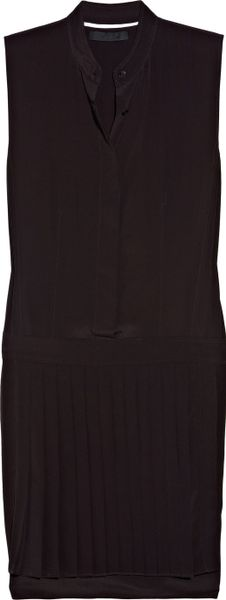Alexander Wang Pleated Crepe Dress in Purple (merlot) - Lyst