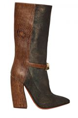 Missoni 120mm Shiny Suede Leather Pointy Boots - Lyst