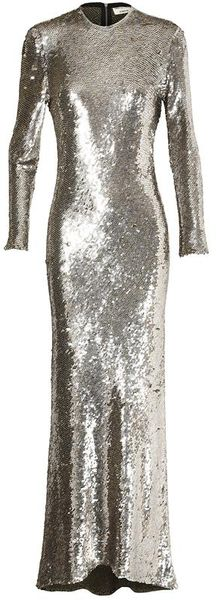 Ashish Handcrafted Sequin Column Dress - Lyst