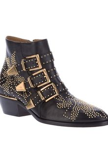 Chloé Studded Ankle Boot - Lyst