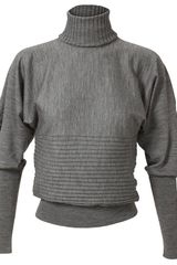 Fendi Ribbed Fine Wool Turtle Neck Jumper