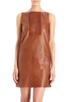 Fendi Perforated Dress - Lyst