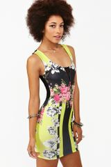 Nasty Gal Neon Rose Dress - Lyst