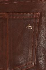 Rag & Bone Skinny Leather Pants in Brown - Lyst