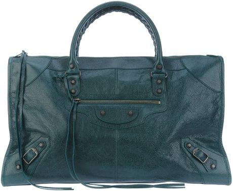 Balenciaga Classic Work Tote in Green - Lyst