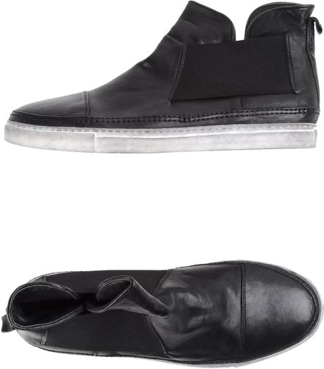 Casadei Hightop Sneaker in Black for Men - Lyst