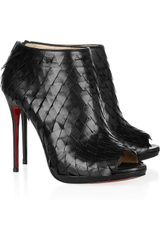 Christian Louboutin Diplonana 120 Scaleeffect Leather Ankle Boots - Lyst