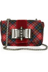 Christian Louboutin Sweety Charity Bowembellished Tartan Shoulder Bag - Lyst