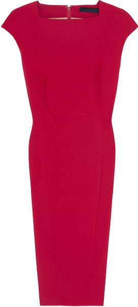 Elie Saab Cap Sleeve Dress in Red - Lyst