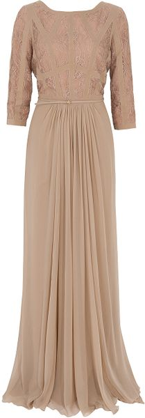 Elie Saab Sleeveless Lace Gown - Lyst
