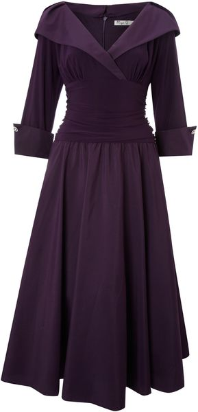 Eliza J 3/4 Sleeve Ruched Waist Dress - Lyst