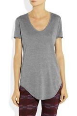 Helmut Lang Helmut Kinetic Jersey TShirt in Gray - Lyst