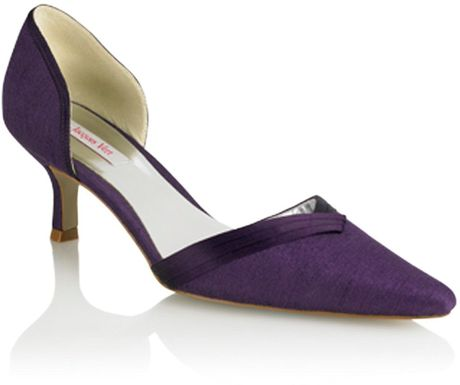 Jacques Vert Grape Open Court Shoe in Purple (dark purple) - Lyst
