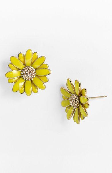 Kate Spade Daisy Stud Earrings In Yellow Lyst