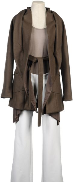 Liu Jo Midlength Jacket in Brown (grey) - Lyst